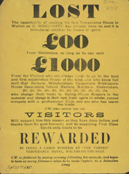 Advert For 'The Tabard', A Temperance Hotel